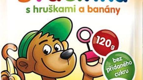 HAMÁNEK Svačinka 100% ovoce s hruškami a banány, (120 g) - ovocný příkrm