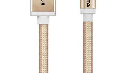 Kabel ADATA MicroUSB, 1m, pletený (AMUCAL-100CMK-CGD) zlatý