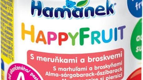 HAMÁNEK HappyFruit 100% s broskvemi a meruňkou, (190 g) - ovocný příkrm