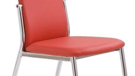 Jídelní židle K3 Halmar červená