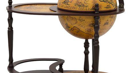 Dřevěný globus bar 94 x 51 cm T5452 Dekorhome