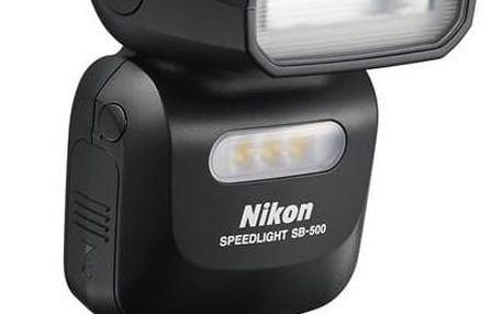 Blesk Nikon SB-500 černý + Doprava zdarma