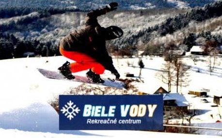 Super lyžovačka na Bílých Vodách s plnou penzí, skipassem a dítětem zdarma