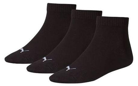 3PACK ponožky Puma black