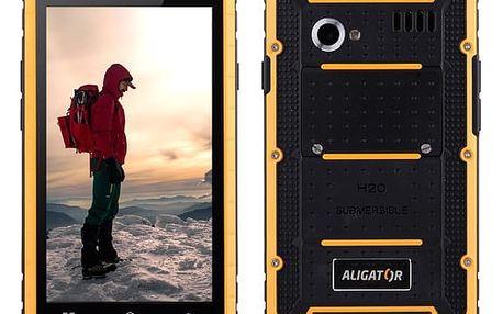 Mobilní telefon Aligator RX460 eXtremo 16 GB Dual SIM (ARX460BY) černý/žlutý + DOPRAVA ZDARMA