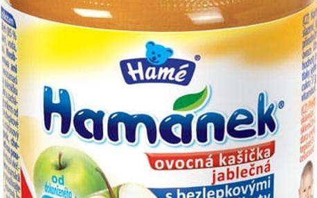 HAMÁNEK Kojenecká výživa ovocná kašička s bezlepkovými piškoty, (190 g) - ovocný příkrm