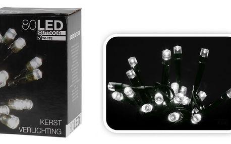Vánoční světelný řetěz, bílý, 80 LED, 8 funkcí