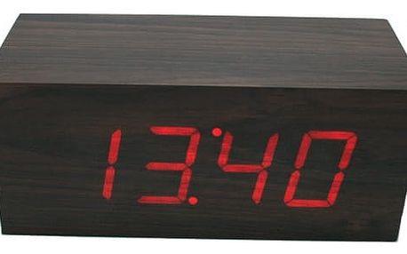 Tleskací dřevěné digitální hodiny