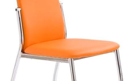 Jídelní židle K3 Halmar oranžová
