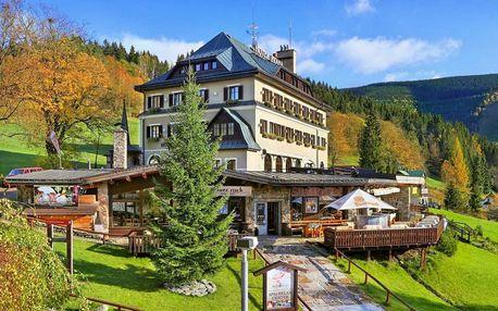 Jaro i léto v Hotelu Praha **** ve Špindlu s wellness a polopenzí