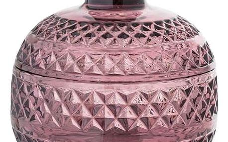 Bloomingville Skleněná dóza Purple Glass, fialová barva, sklo