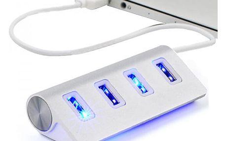 Vysokorychlostní USB hub se čtyřmi porty v elegantním designu