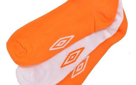 3PACK ponožky Umbro bílo oranžové