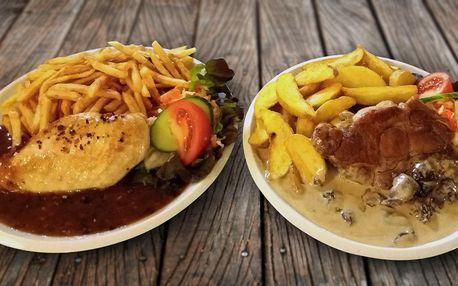 Steak, přílohy i omáčky pro 2 osoby