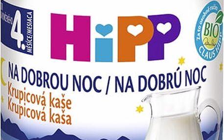 HiPP BIO Kaše na dobrou noc krupicová s příchutí vanilky 190 g