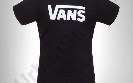 Tričko Vans Mn Classic Black/White Černá