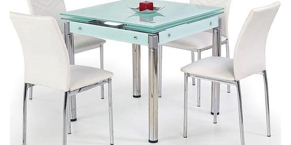 Jídelní stůl KENT Halmar mléčné sklo