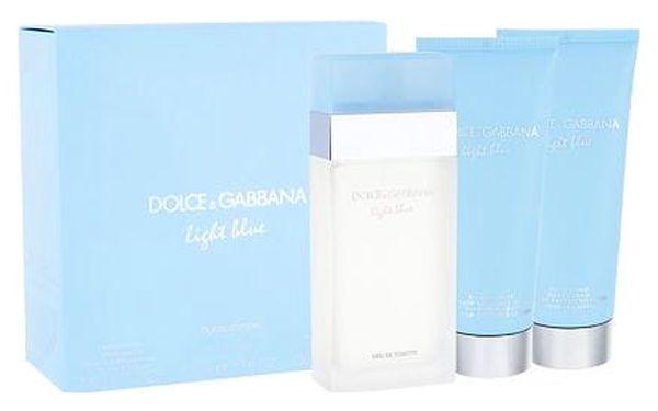 Dolce&Gabbana Light Blue EDT dárková sada W - EDT 100 ml + tělový krém 100 ml + sprchový gel 100 ml