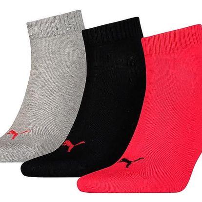 3PACK ponožky Puma black red M