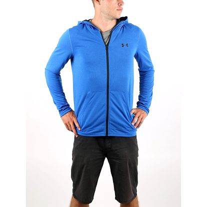 Mikina Under Armour Threadborne Fitted FZ Hoody Modrá