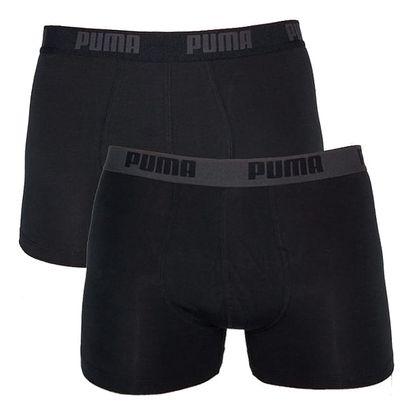 2PACK Pánské Boxerky Puma Black / Black Long S