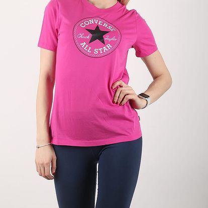 Tričko Converse CORE SOLID CHUCK PATCH CREW Růžová