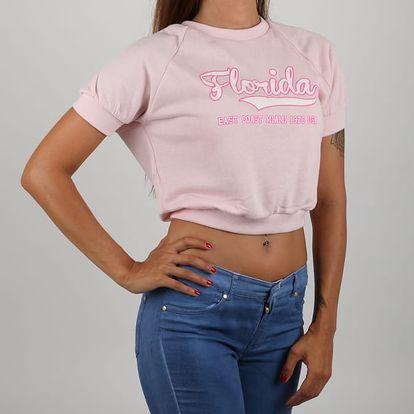 Tričko Alcott FELPA CON PATCH Růžová