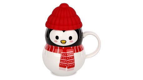 Porcelánový hrnek Snowman 330 ml, tučňák