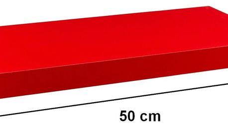 STILISTA 31042 Nástěnná police VOLATO - matná červená 50 cm