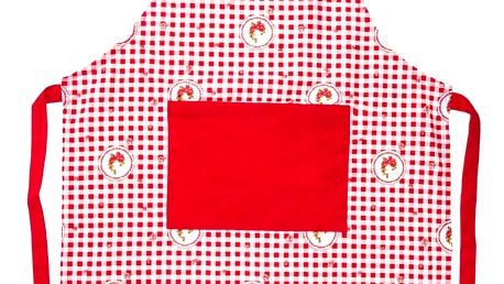 Trade Concept Zástěra Elegant kostka červená