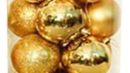 Vánoční ozdoby - kulaté - 24 kusů