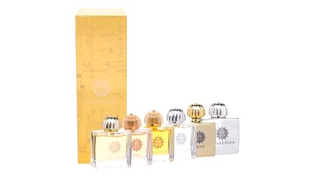 Amouage Mini Set Classic Collection dárková kazeta pro ženy 6x 7,5 ml edp Gold + Dia + Ciel + Reflection + Jubilation XXV + Beloved