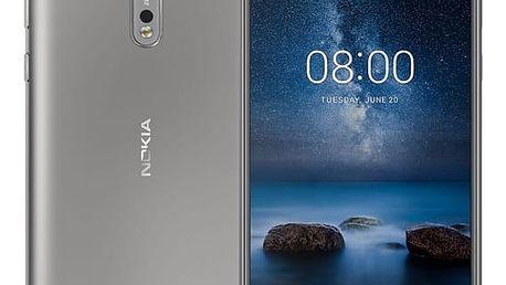 Mobilní telefon Nokia 8 Dual SIM (11NB1S01A06) stříbrný + DOPRAVA ZDARMA
