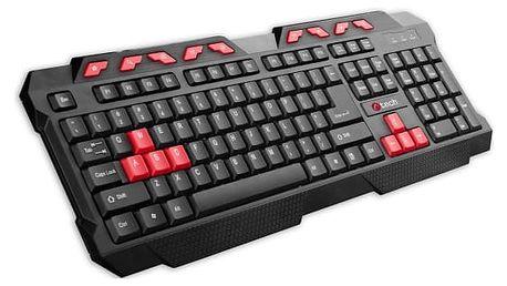 Klávesnice C-Tech GMK-102-R, CZ/SK (GMK-102-R) černá/červená