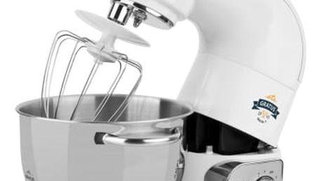 Kuchyňský robot ETA Gratus MAX 0028 90061 bílý + dárky Kniha Šéfkuchař robot + Přísl. k robotům - nástavec na výrobu zmrzliny ETA 0028 98030 bílé v hodnotě 1 599 Kč + DOPRAVA ZDARMA