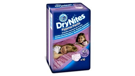 Plenkové kalhotky Huggies Dry Nites Medium - Girls 17-30 kg, 10 ks