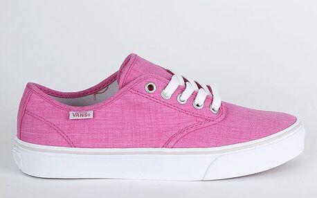Boty Vans Wm Camden Stripe (Linen) Beet Růžová