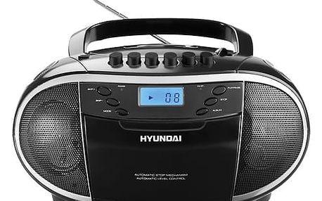 Radiomagnetofon s CD Hyundai TRC 851 AU3 černý/stříbrný