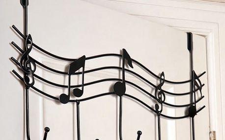 Závěsný věšák s hudebními motivy - 3 barvy