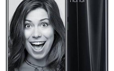 Mobilní telefon Honor 9 Dual SIM 64 GB (51091TBH) černý Fitness náramek Honor Band 3 - černý (zdarma) + Doprava zdarma