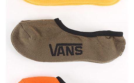 Ponožky Vans MN CLASSIC SUPER NO MINERAL YELL 3 Pack Barevná