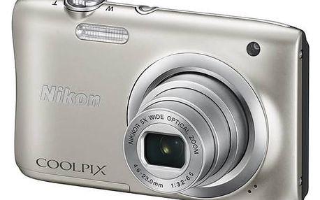 Digitální fotoaparát Nikon Coolpix A100 stříbrný + Doprava zdarma
