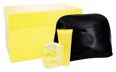 Versace Yellow Diamond EDT dárková sada W - EDT 90 ml + tělové mléko 100 ml + kosmetická taška