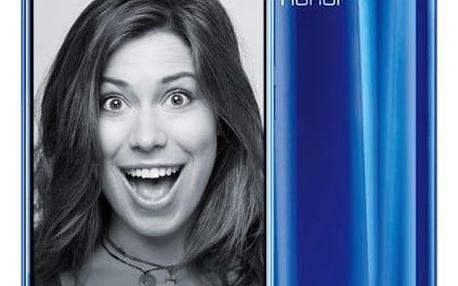 Mobilní telefon Honor 9 Dual SIM 64 GB (51091TBG) modrý Fitness náramek Honor Band 3 černý v hodnotě 1 790 Kč + DOPRAVA ZDARMA