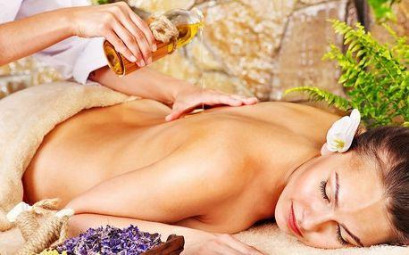 Thajská luxusní skořicová teplá aroma masáž