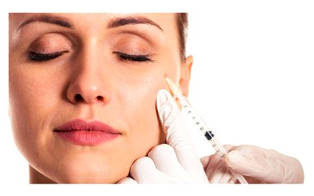 Aplikace botulotoxinu pro vyhlazení vrásek - lékařský zákrok