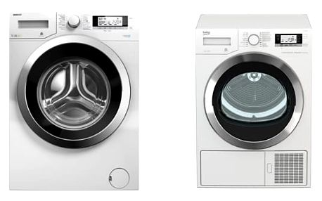 Set (Sušička prádla Beko DE 8635 RX0) + (Automatická pračka Beko Superia WMY 71243 CS PTLMB1) + DOPRAVA ZDARMA
