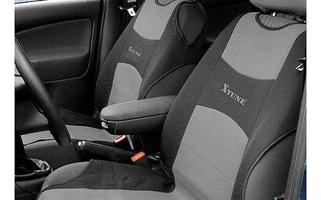 Potah sedadel Compass TRIKO přední 2 ks tmavě šedý
