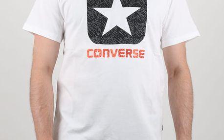 Tričko Converse TEXTURE BOXSTAR FILL TEE Bílá
