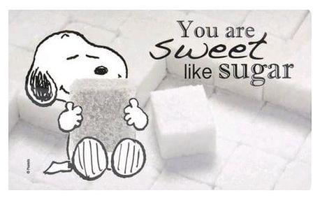 Cure Pink Prostírání Snoopy, 23,5 x 14,5 cm